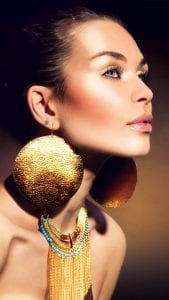 Fashion Make Up Big Earings Android Wallpaper